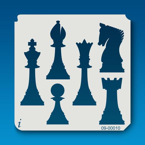 09-00010 Chess Game Stencil