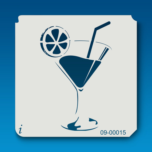 09-00015 Cocktail Stencil Template