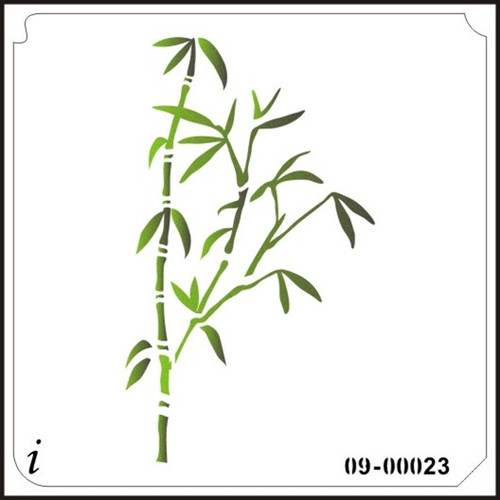 09-00023 Bamboo Wall Stencil