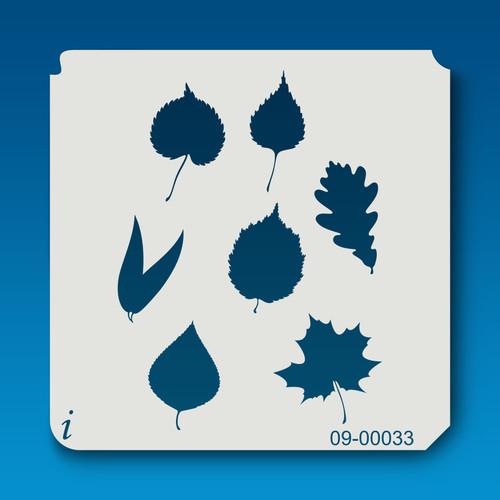 09-00033 Leaves stencil