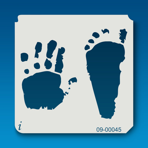 09-00045 Hands and Feet Paint Stencil