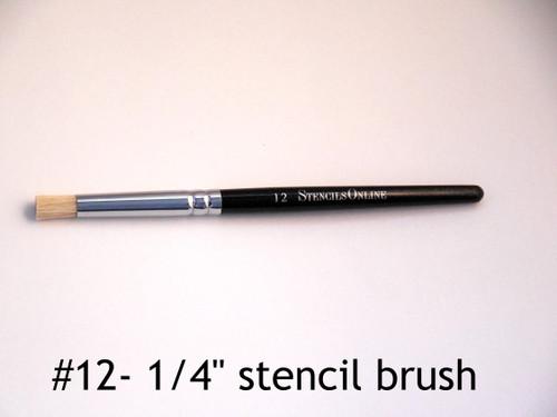 "#12 1/4"" - Stencil Brush"