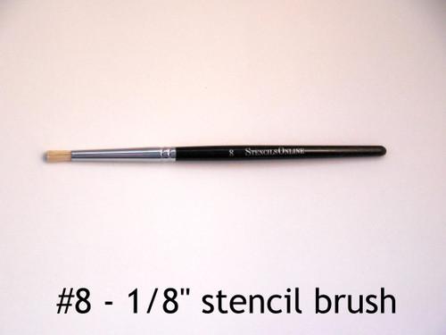 "#08 1/8"" - Stencil Brush"