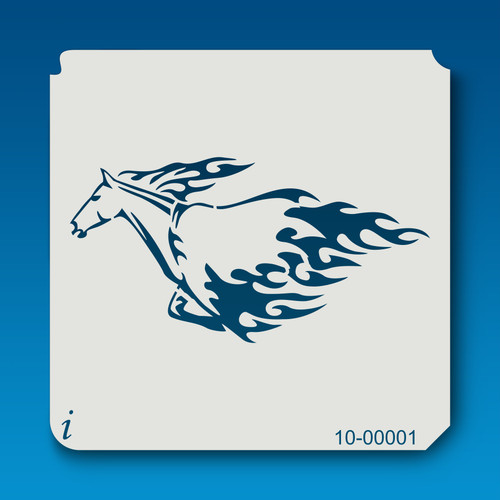 10-00001 Flaming Running Horse