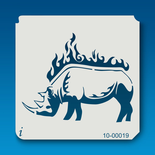 10-00019 Rhino Safari Animal Stencil