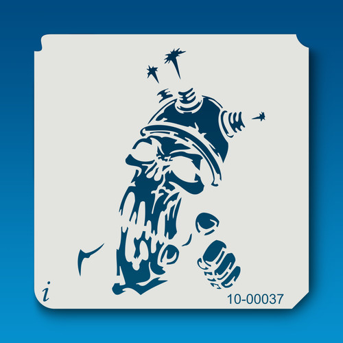 10-00037 Electric Shock Skull Stencil