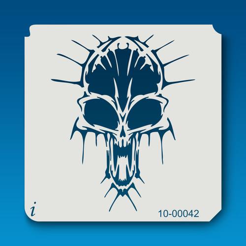 10-00042 skull stencil
