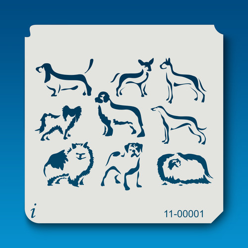 11-00001 Dogs Animal Stencil