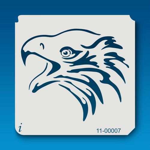 11-00007 Eagle head airbrush stencil