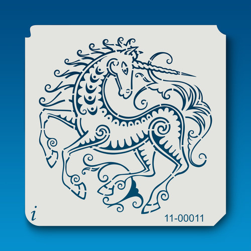 11-00011 Unicorn Damask Stencil