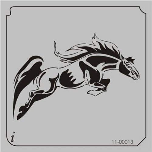 11-00013 Jumping Horse Animal Stencil