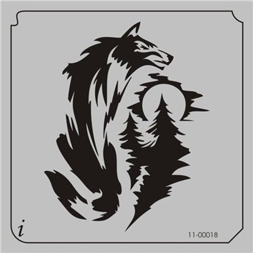 11-00018 Wolf Nightscape