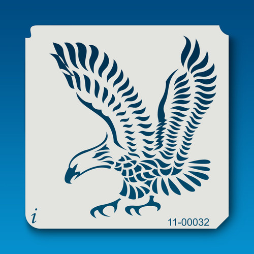 11-00032 Bald Eagle Tattoo Stencil