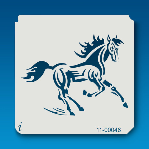 11-00046 Trotting Horse Stencil