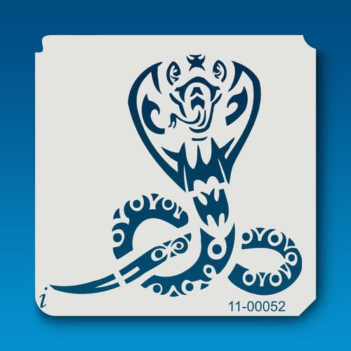 11-00052 King Cobra Tribal Stencil