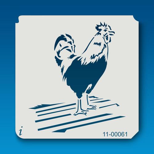 11-00061 Rooster Bird Stencil