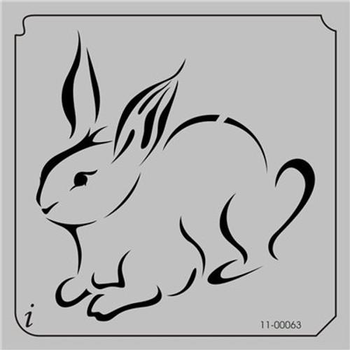 11-00063 Rabbit Farm Animal Stencil