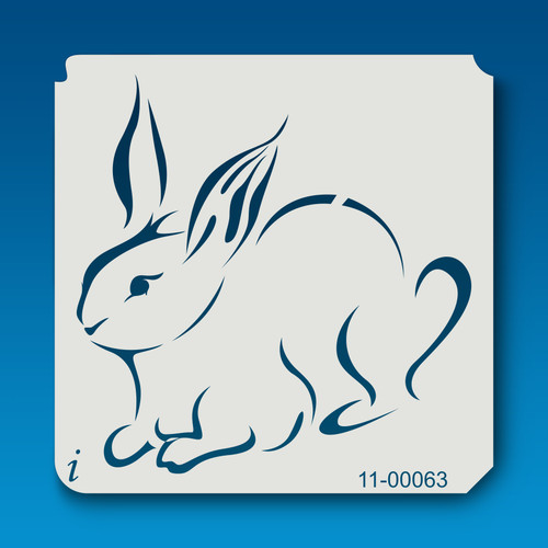 11-00063 Rabbit Farm Animal Stencil