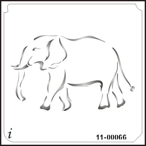 11-00066 Elephant Safari Animal Stencil