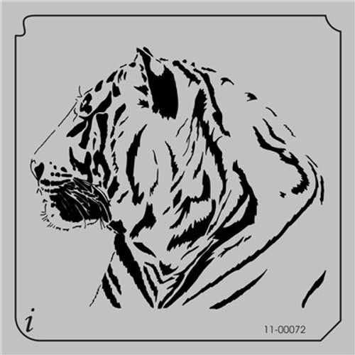 11-00072 Tiger Head Animal Stencil