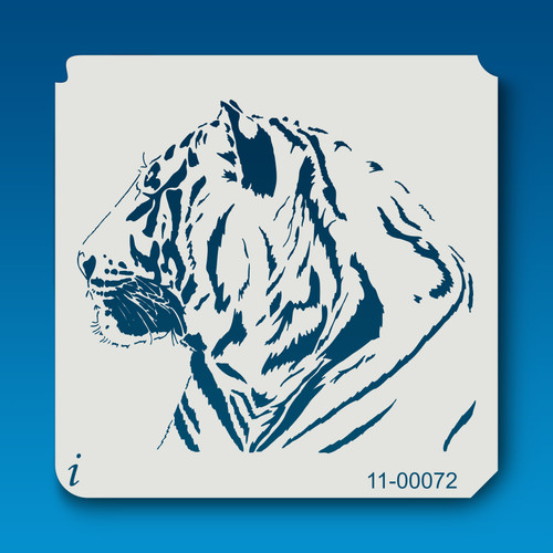 11-00072 Tiger Head Animal Stencil