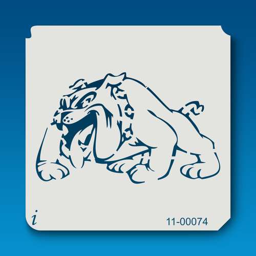 11-00074 bull dog cartoon stencil