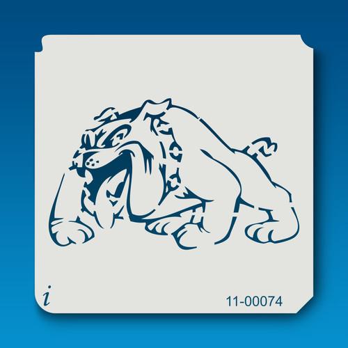 11-00074 bull dog cartoon stencil