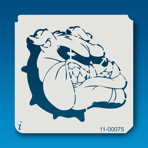 11-00075 bully the bull dog head stencil