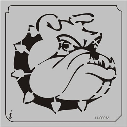11-00076 Bull Dog Cartoon Head