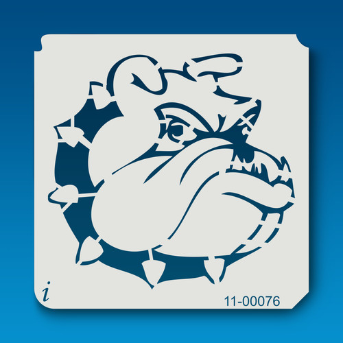 11-00076 Bull Dog Cartoon Head