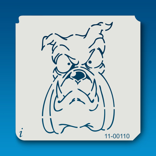 11-00110 Long Face Bull Dog Cartoon