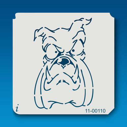 11-00110 Long Face Bull Dog Cartoon