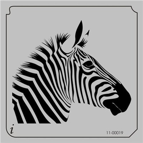 11-00128 Zebra Head Safari Animal Stencil