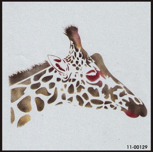 11-00129 Giraffe Head Safari Animal Stencil