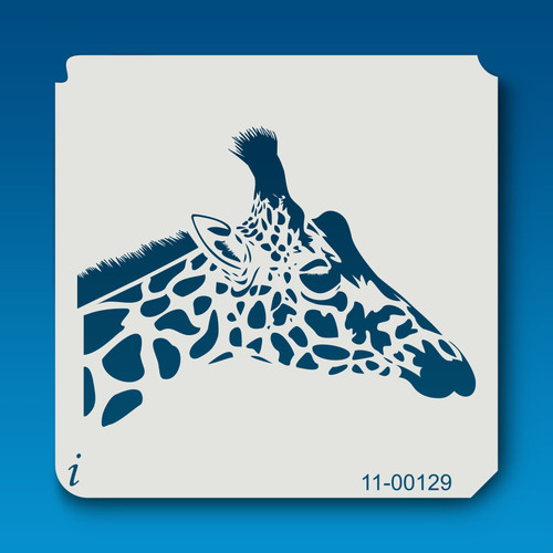 11-00129 Giraffe Head Safari Animal Stencil