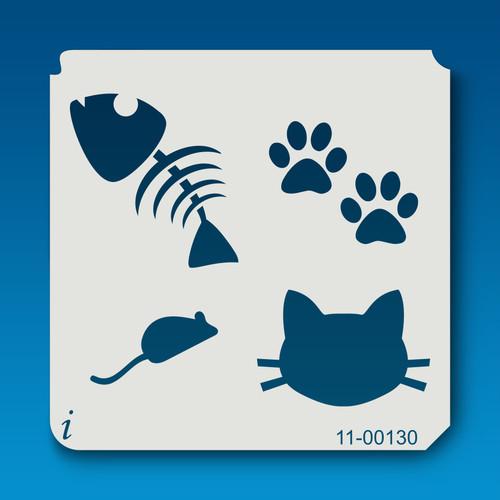 11-00130 kitty cat love stencil