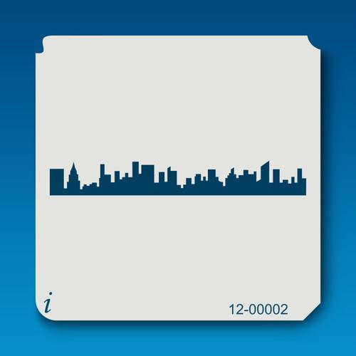 12-00002 Cityscape Stencil