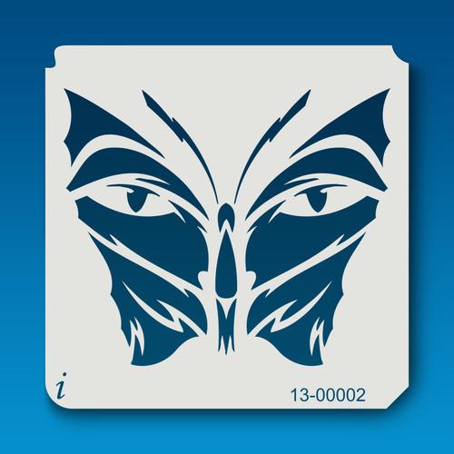 13-00002 butterfly eyes stencil