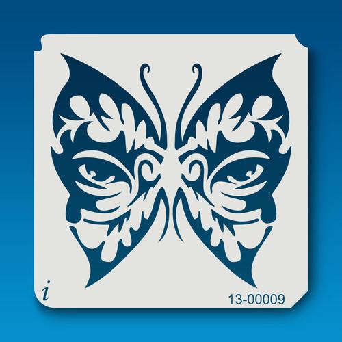 13-00009 butterfly eyes stencil