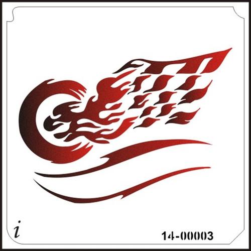 14-00003 Burning Rubber Flag Banner