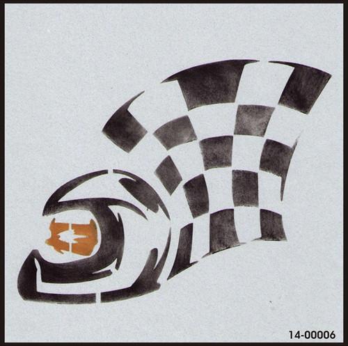 14-00006 Racing Helmet Flag