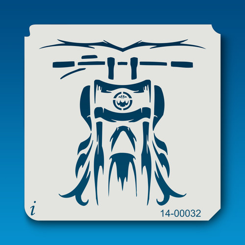 14-00032 motorcycle airbrush stencil
