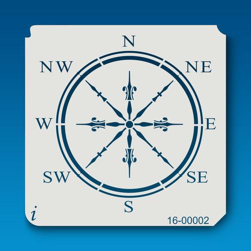 16-00002 Classic Compass Stencil