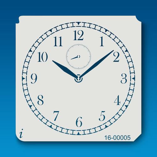 16-00005 Clock Paint Stencil