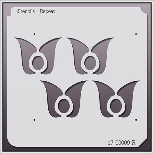17-00009 R Groovy Tulip Repeat Stencil
