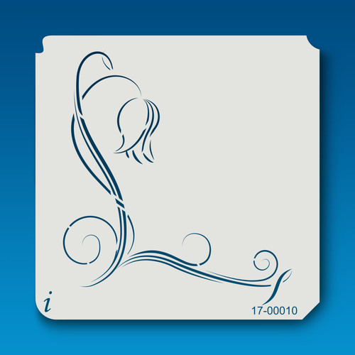 17-00010 Tulip Flower Stencil