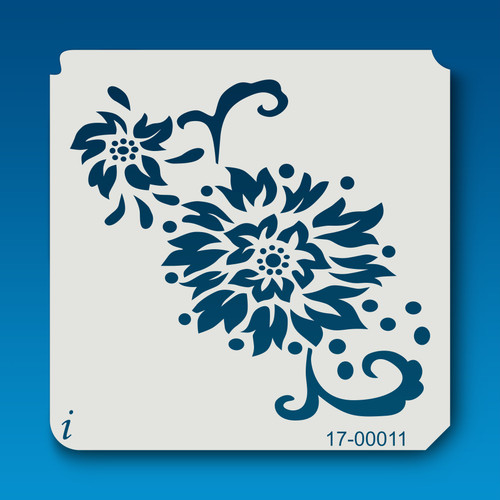 17-00011 Abstract Peony Stencil