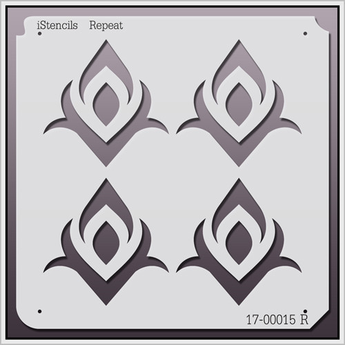 17-00015 R Diamond Flower Repeat Stencil
