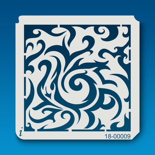 18-00009 Tribal Swirl Stencil