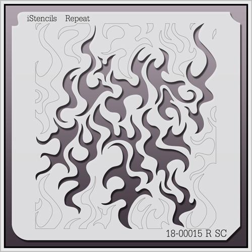 18-00015 R SC Flame Pattern Stencil